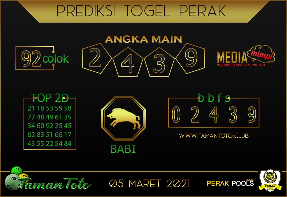 Prediksi Togel PERAK TAMAN TOTO 05 MARET 2021