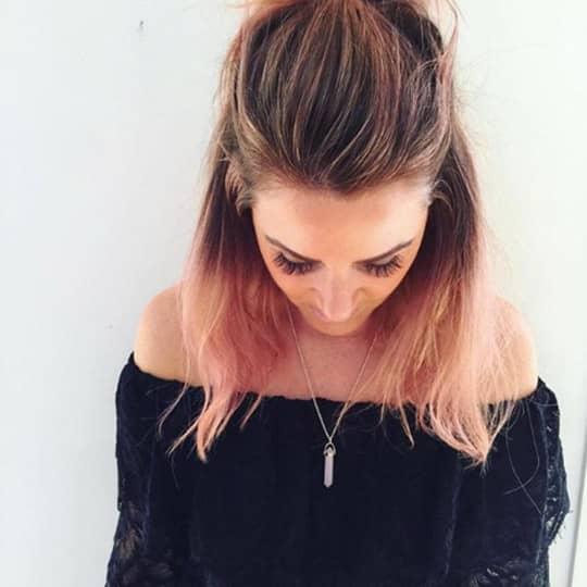 Dip Dye-strawberry-styled-hair