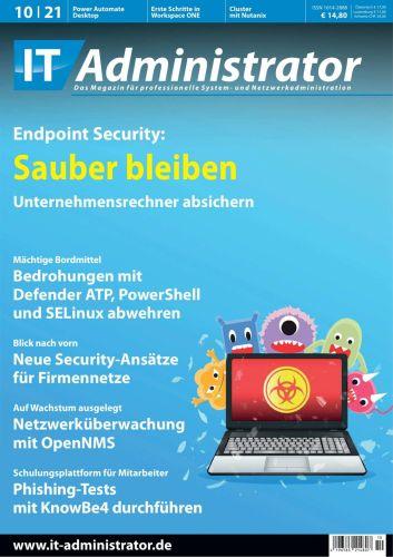 Cover: It-Administrator Magazin Oktober No 10 2021