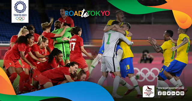 Canada and Brazil Dominate Olympics Football in Two Thrilling Finals