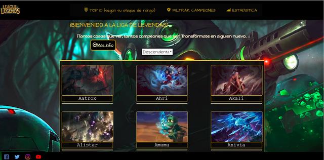 Data-Lovers/Página para gamers de League of Legends