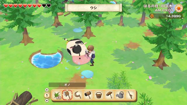 「牧場物語」系列首次在Nintendo Switch™平台推出全新製作的作品! 『牧場物語 橄欖鎮與希望的大地』 決定於2021年2月25日(四)發售! 010