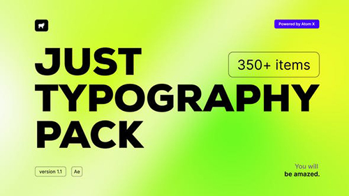 Just Typography Pack V1.1 33130966 - Project & Script for After Effects (Videohive)