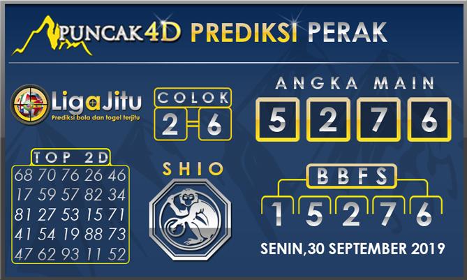PREDIKSI TOGEL PERAK PUNCAK4D 30 SEPTEMBER 2019