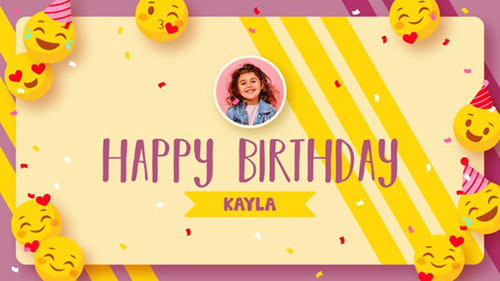 Emoji Happy Birthday 33517928 - Project for After Effects (Videohive)