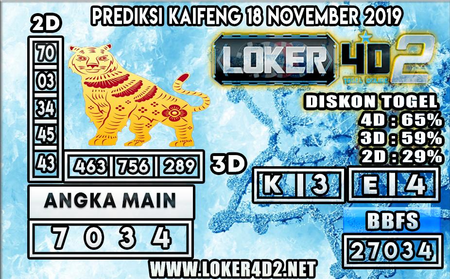 PREDIKSI TOGEL KAIFENG POOLS LOKER4D2 18 NOVEMBER 2019