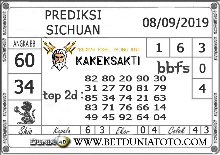 "Prediksi Togel ""SICHUAN"" DUNIA4D 08 SEPTEMBER 2019"