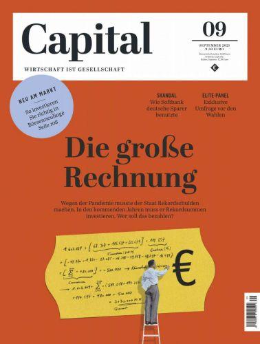 Cover: Capital Wirtschaftsmagazin September No 09 2021