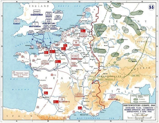 The amphibious assault was carried out on an 80 km wide stretch of coast between the mouth of the Orne River and the Ozville commune. The landing strip was divided into five main sectors of the invasion: Utah, Omaha, Gold, Juno, and Sword.