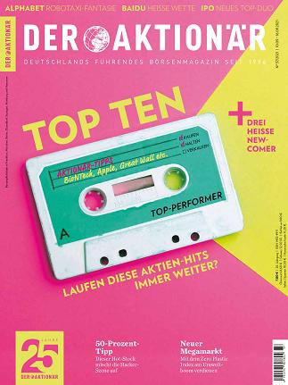 Cover: Der Aktionär Magazin No 37 vom 10  September 2021