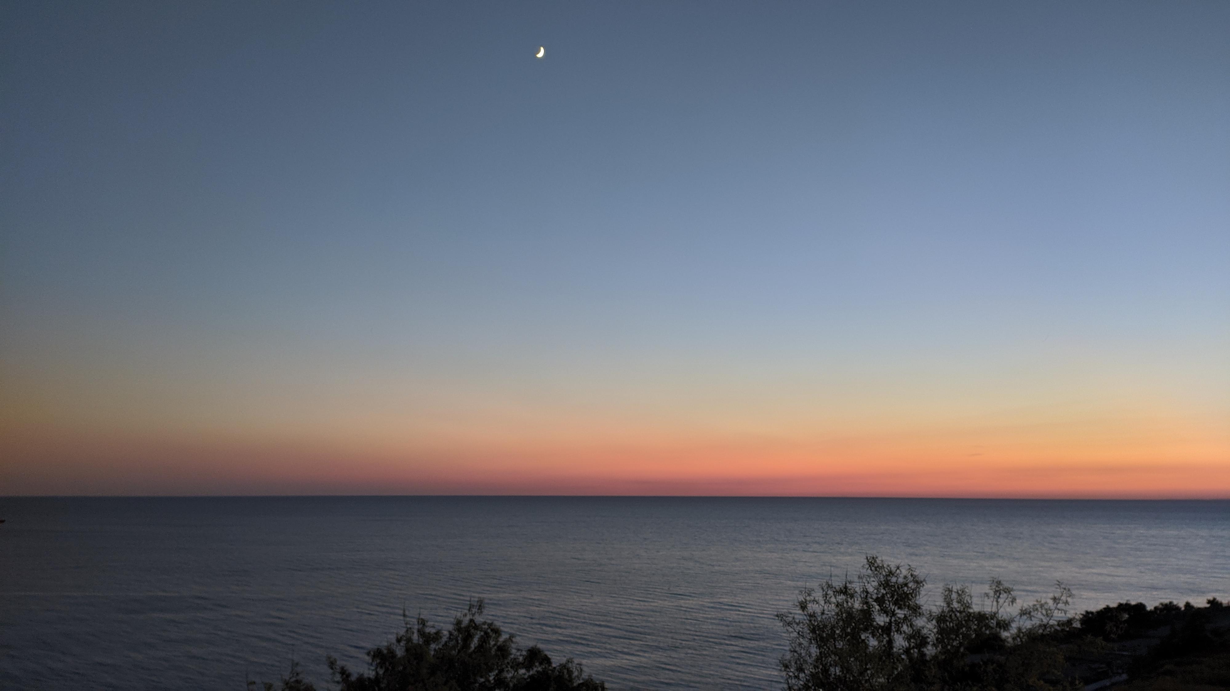 Закат над морем Анапа