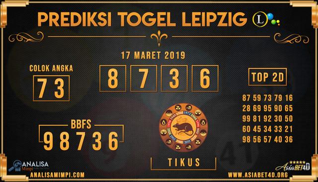 PREDIKSI TOGEL LEIPZIG LOTTERY MINGGU 17 MARET 2019