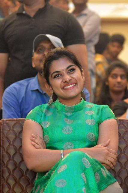 Telugu Actress Niveda Thomas during Ninnu Kori Blockbuster Celebrations at Vijayawada 1