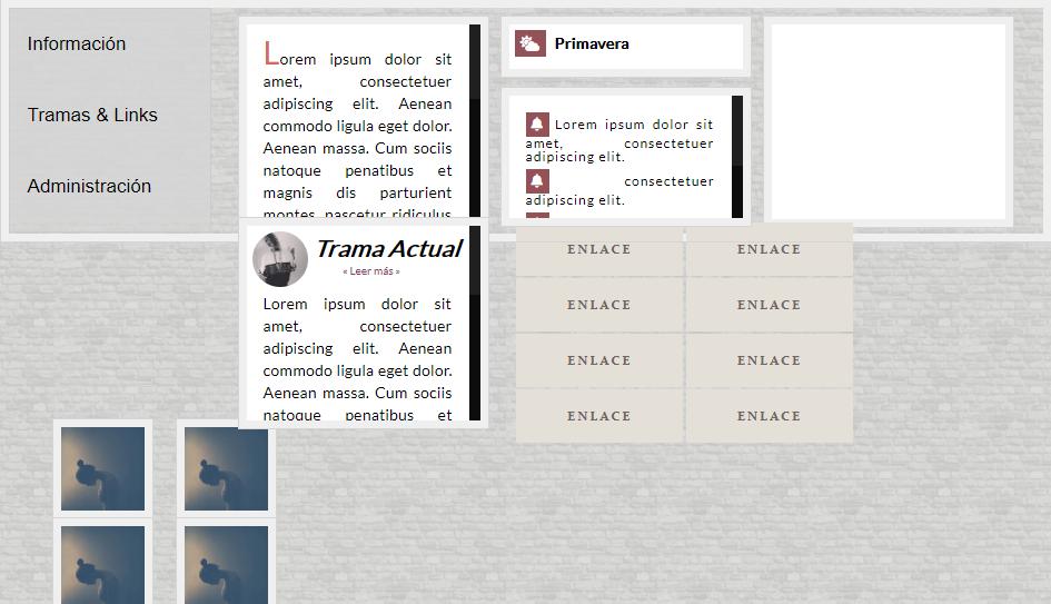 Desconfiguración del tablón de anuncios con botones. Tablon
