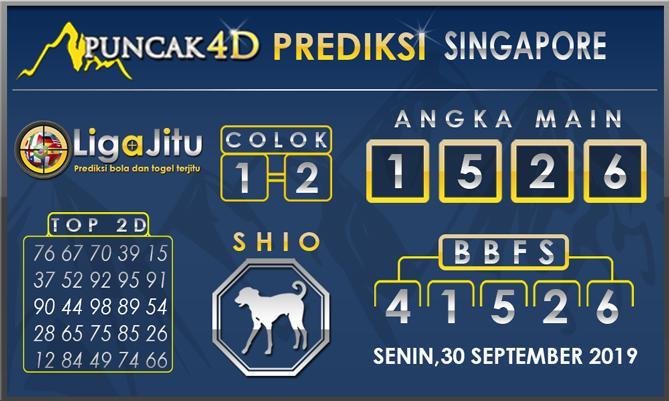 PREDIKSI TOGEL SINGAPORE PUNCAK4D 30SEPTEMBER 2019