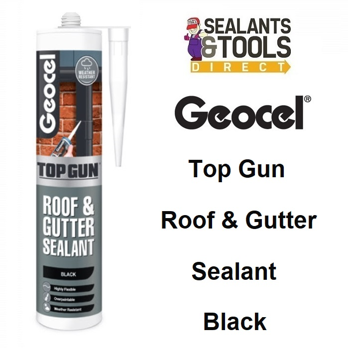 Geocel Top Gun Roof & Gutter Sealant 310ml Black