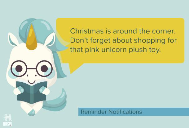 Reminder push notification