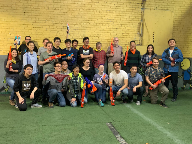 Nerf Adversaries Make Peace at an Indoor Nerf Gun Party in Los Angeles