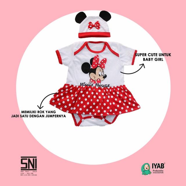 Jumper Bayi Rok Minnie Mouse