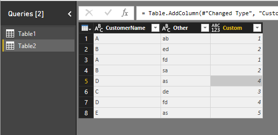 how to lookup values in another table in the query editor