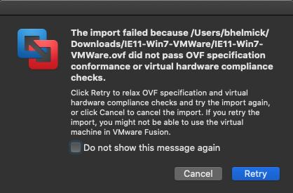 VMWare-Import-Failed
