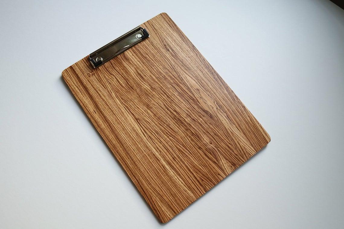 Wooden Oak Menu Clipboard