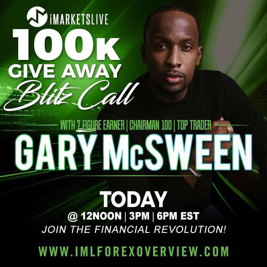 $100k giveaway Gary mcSween IMarketsLive