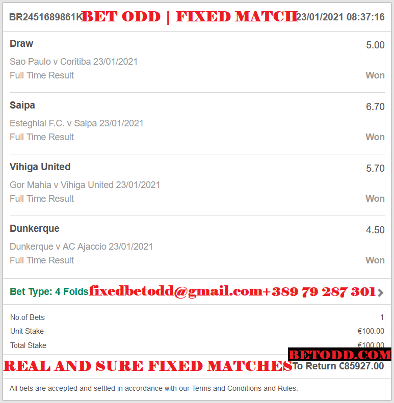 BET ODD FIXED MATCHES