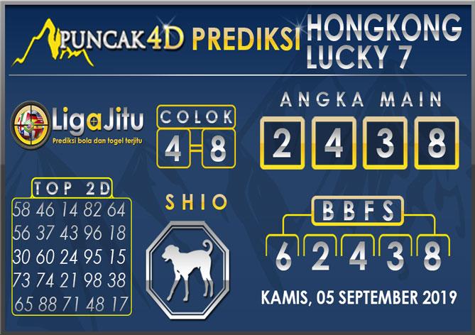PREDIKSI TOGEL HONGKONG LUCKY7 PUNCAK4D 05 SEPTEMBER 2019