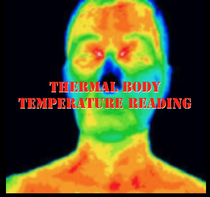 thermal scanner image of a persons face