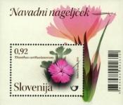 Slovenia stamps CVIJET-NAVADNI-NAGELJ-EK-BLOK
