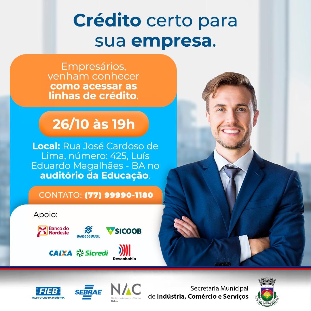 LEM: Secretaria de Indústria e Comércio promoverá evento voltado para crédito empresarial