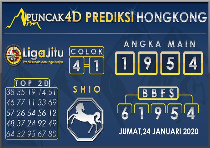 PREDIKSI TOGEL HONGKONG PUNCAK4D 24 JANUARI 2020