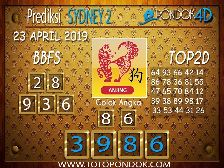 Prediksi Togel SYDNEY 2 PONDOK4D 23 APRIL 2019