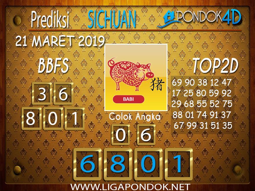 Prediksi Togel SICHUAN PONDOK4D 21 MARET 2019