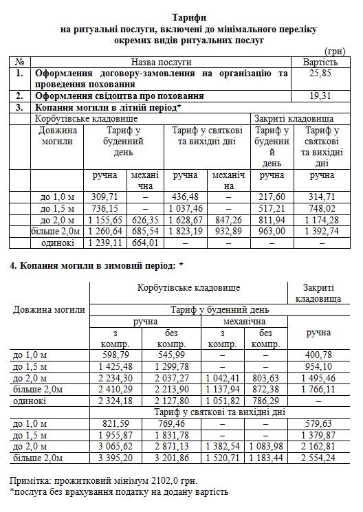 tarif-pohov
