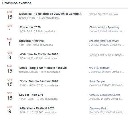 'Cancelamento'? Datas de shows do Metallica no Brasil são apagadas em página oficial da banda 2