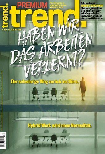 Cover: Trend Wirtschaftsmagazin Premium No 34 vom 27  August 2021