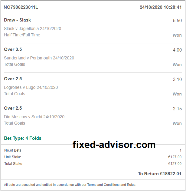 Accurate Fixed Bet Tips