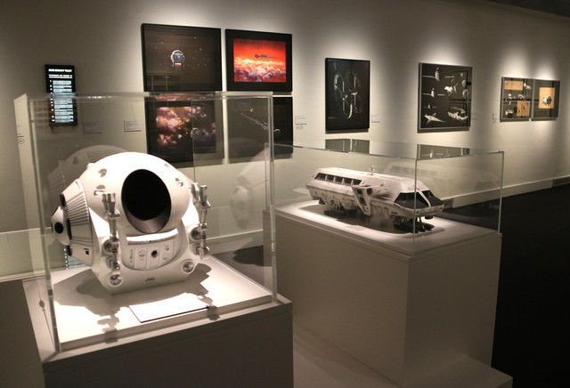 Objects-related-to-film-2001-A-Space-Odyssey-at-the-Stanley-Kubrick-exhibit-at-the-CCCB-on-October-23-2018-by-Pau-Cortina