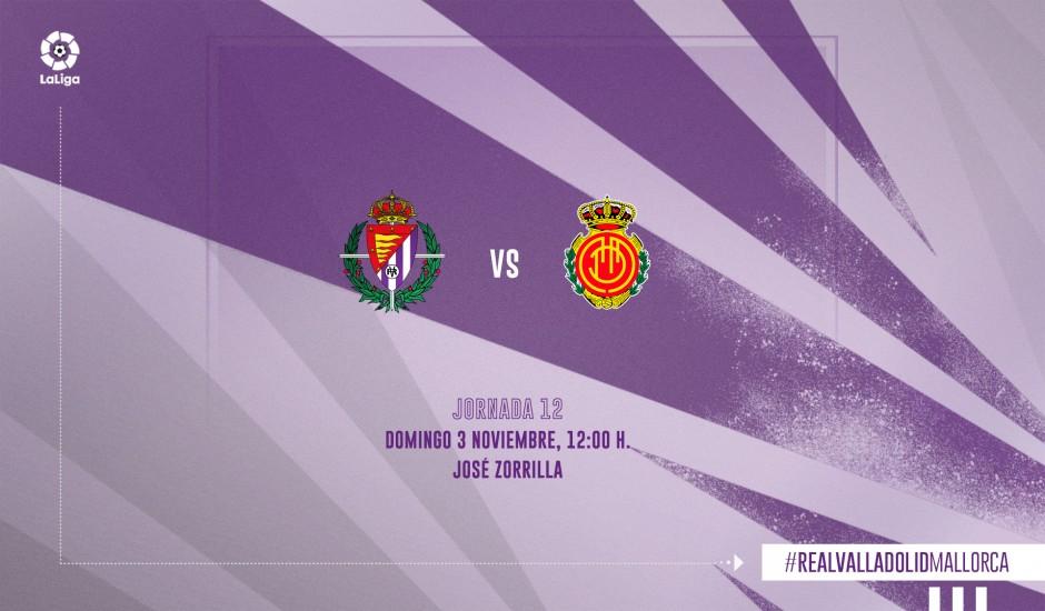 Real Valladolid C.F. - R.C.D. Mallorca. Domingo 3 de Noviembre. 12:00 RV-RCDM