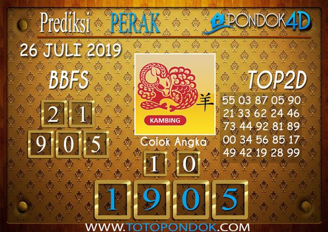 Prediksi Togel PERAK POOLS PONDOK4D 26 JULI 2019