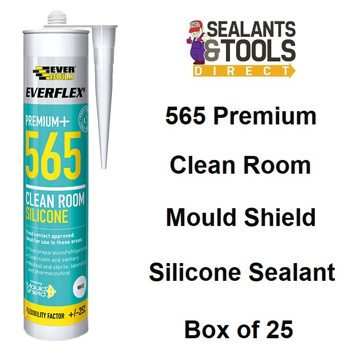 Everbuild 565 Clean Room Silicone Sealant Food Safe Box of 25