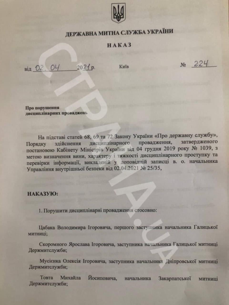 От должностей отстранены 17 руководителей украинских таможен. Полный список. Фото