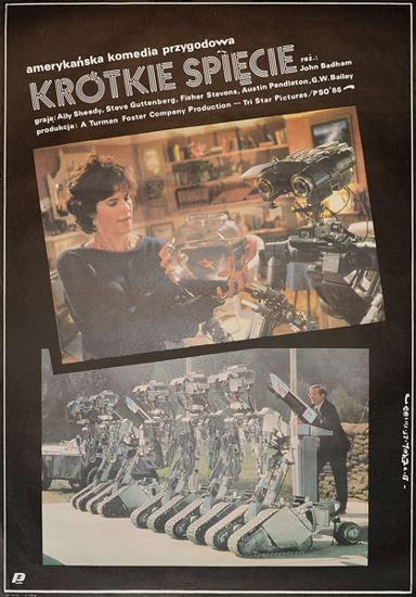 Krótkie spięcie / Short Circuit (1986) PL.BRRip.XviD-GR4PE   Lektor PL