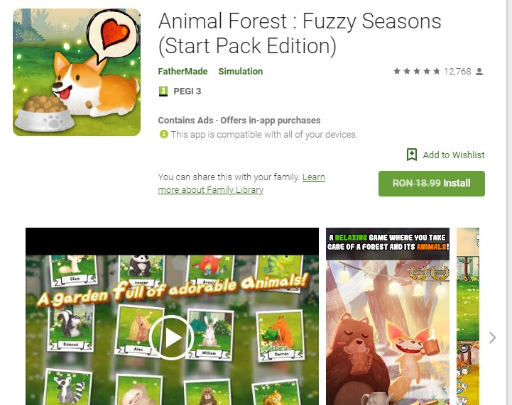 Animal Forest : Fuzzy Seasons (Start Pack Edition) free