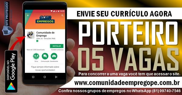 PORTEIRO, 05 VAGAS PARA EMPRESA DE TERCEIRIZAÇÃO EM PAULISTA