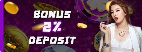 BONUS DEPOSIT HARIAN 2% - TO x2