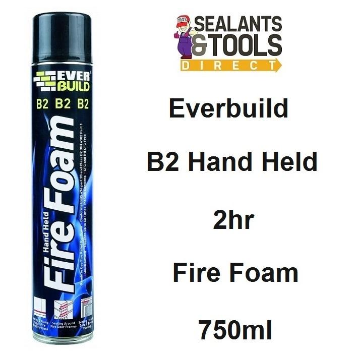 Everbuild B2 Hand Held 2hr Expanding Fire Foam 750ml B2FIREHAND