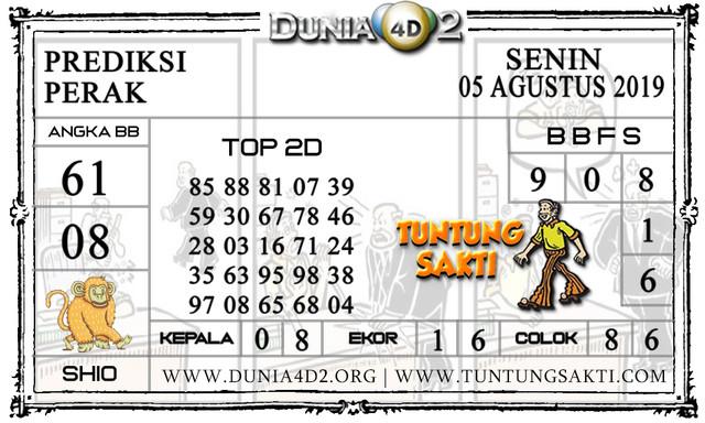 """Prediksi Togel """"PERAK"""" DUNIA4D2 05 AGUSTUS 2019"""